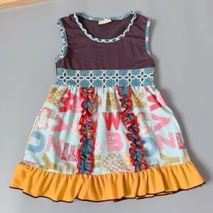 Other - NWT ...Alphabet Dress Girl Size 7-8